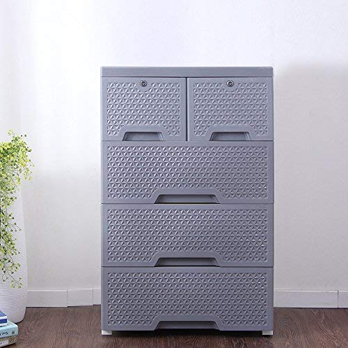 Movable Storage Cabinet,Multipurpose Furniture Organizer,Nafenai Home Bedroom Office 4-layers Storage Cart with 2 Cabinets ,Durable and Environmental-friendly by Nafenai (Image #9)