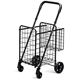 Best Grocery Carts - Goplus Folding Shopping Cart Double Basket Perfect Review