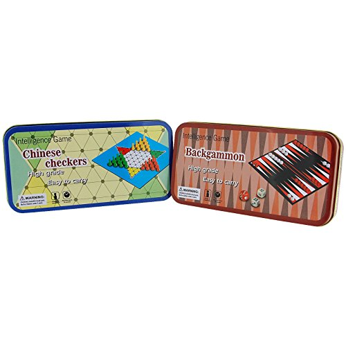 (Backgammon & Chinese Checker Pocket Games For Your Travels To Relieve Boredom - Pack of 2 SC936)