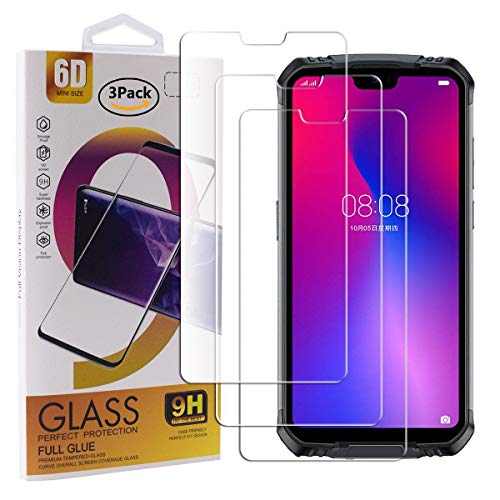 Guran 3 Pack Tempered Glass Screen Protector For Doogee S68 Pro Smartphone Scratch Resistance Protection 9H Hardness HD…