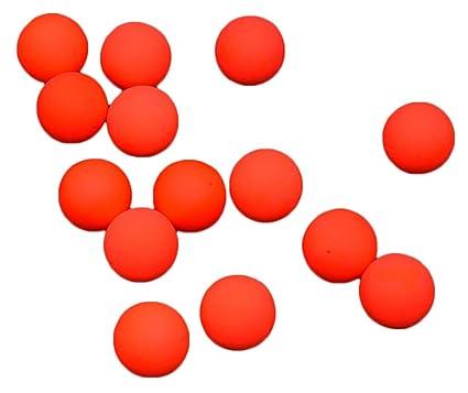 taloyer 100 piezas de pesca flotador pelota de espuma EPS Golpear la pelota granos pesca Circular