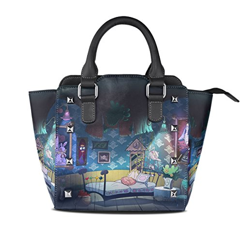 Bag Alice Top Women In Wonderland Handle Zip Leather Seamless BENNIGIRY Shoulder Closure PU Handbags 50w4nqd