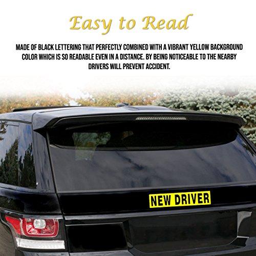 vaygway set of 3 new driver bumper magnet safety sign car vehicle reflective sign. Black Bedroom Furniture Sets. Home Design Ideas