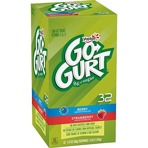 Yoplait Go-Gurt Low Fat Yogurt, Strawberry and Berry (32 ct.)
