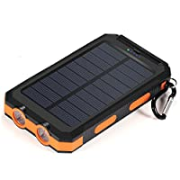 Solar Charger,10000mAh Solar Power Bank ...