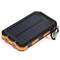 Solar Charger,10000mAh Solar Power Bank ...