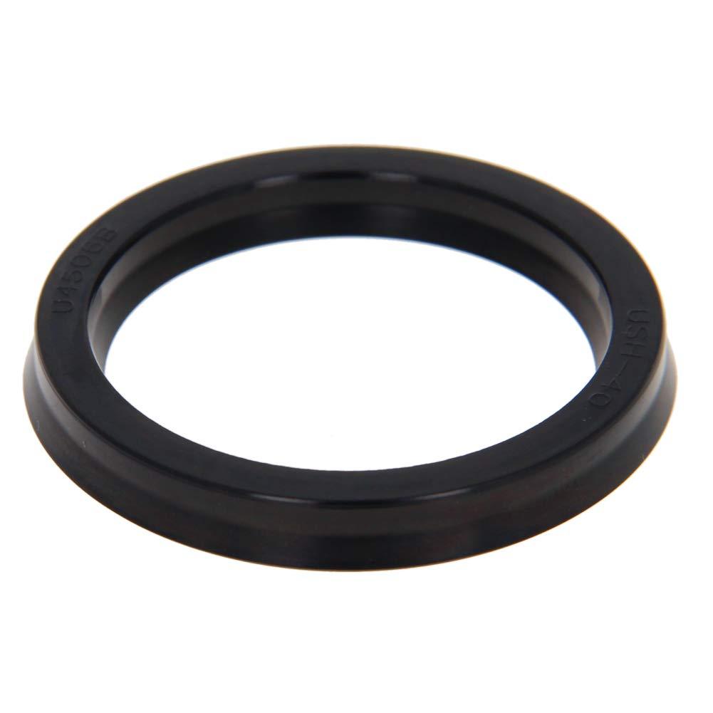 Othmro Seal Piston Shaft USH Nitrile Rubber Oil Sealing Oil Shaft Seal Black 35 x 45 x 6mm 1pcs