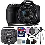 Canon PowerShot SX540 HS Digital Camera + 67mm Filter Kit + Adapter Ring + 32GB Memory Card + Reader + Case + Tall Tripod + 3pc Cleaning Kit