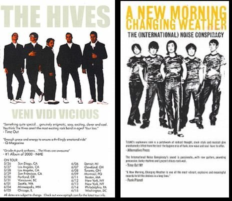 The Hives: Veni Vidi Vicious and A New Morning Changing Weather: The International Noise Conspiracy -  Epitaph