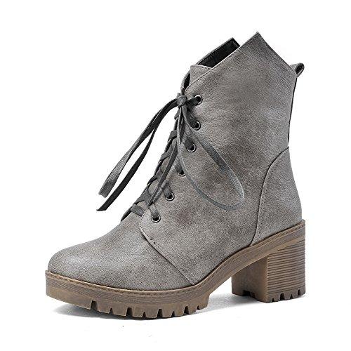 Para Mujer Zapatos Cerrados Gris Adeesu SUOXW