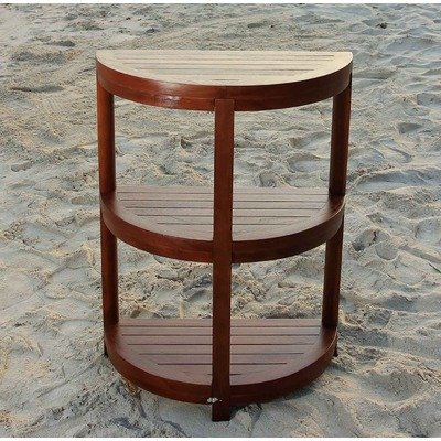 3 Tier Classic Spa Half Moon Teak Shower and bathroom Shelf