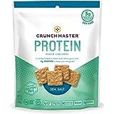 TH Foods Crunchmaster Protein Mini Snack Crackers Gluten Free Non GMO, Sea Salt, 3.54 Ounce