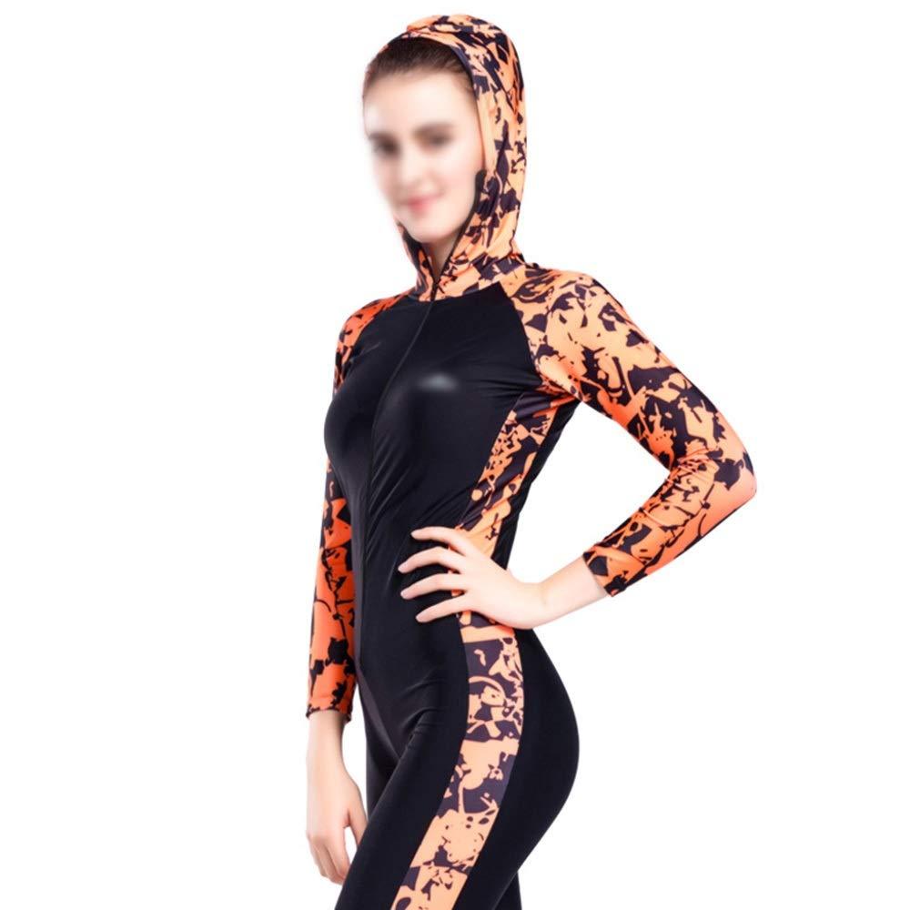 FENXIMEI Sunscreen Mother Clothes Suit Wetsuit Surf Clothing Diving Suit Sun Protection Clothing Snorkling Gear Scuba Snorkel (Color : Orange, Size : L) by FENXIMEI