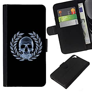All Phone Most Case / Oferta Especial Cáscara Funda de cuero Monedero Cubierta de proteccion Caso / Wallet Case for HTC Desire 820 // Skull X-Ray Goth