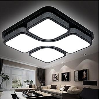 Led Deckenleuchte Wohnzimmer Licht Modern Minimalist Restaurant Schlafzimmer  Licht Atmosphäre Romantische Und Warm Originalität, Schwarz