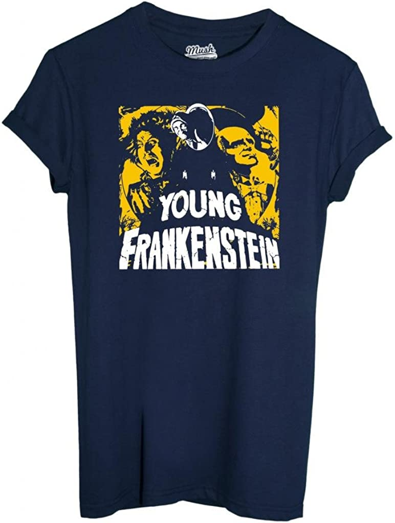 MUSH T-Shirt Young Frankenstein - Film by Dress Your Style - Niño-XL Azul Oscuro