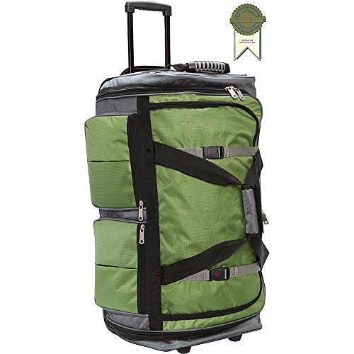 Large Wheeled Duffel 29 (Athalon 29 Inch 15-Pocket Duffel, Grass Gray, One Size)