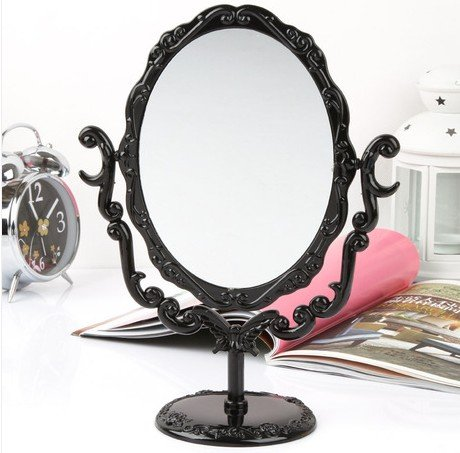 Retro roses Desktop Mirror - Bedroom Round Dresser Shopping Results