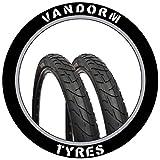 Pair of 26' Slick Tyre MTB Vandorm Wind 210 26' x 2.10' Bike Tires