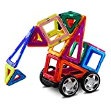Batterymon 54 Pcs Magnetic Building Blocks Sets DIY Educational Toys with Magnet for Brain Development