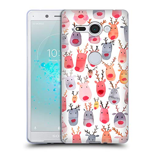 - Official Ninola Cute Reindeer Watercolour Patterns 2 Soft Gel Case for Sony Xperia XZ2 Compact
