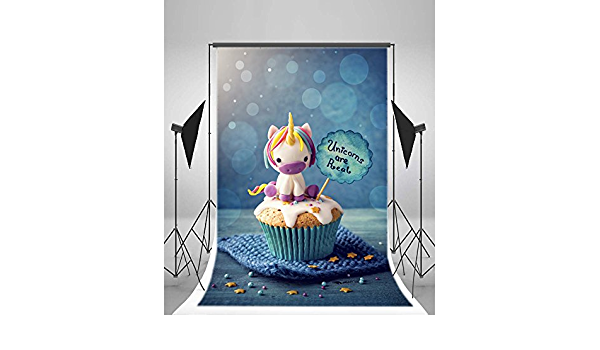 6x8 FT Photo Backdrops,Adorable Funny Peinguin with Party Hat and Cake Newborn Cartoon Style Happiness Background for Kid Baby Boy Girl Artistic Portrait Photo Shoot Studio Props Video Drape Vinyl