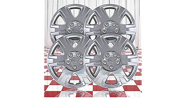 """15/"""" Push-on Chrome Wheel Cover Hubcaps for 2005-2008 Toyota Corolla"""