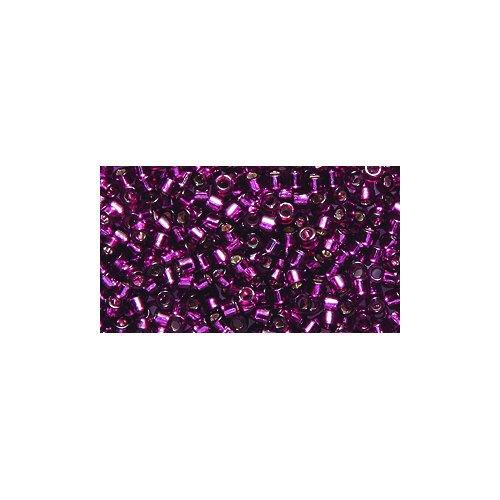 Miyuki Delica Seed Bead 11/0 DB1342, Silver Lined Dark Rose, 9-Gram/Pack