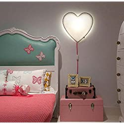 DGS Love Wall Lamp Decoration Children'S Room Furniture Heart-Shaped Baby Toys Led Wall Lamp