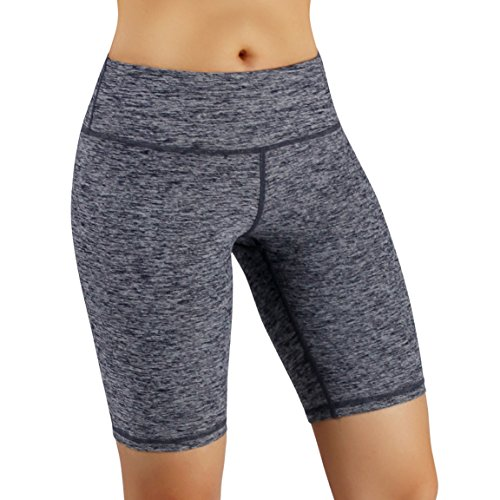 ODODOS by Power Flex Women's Tummy Control Workout Running Shorts Pants Yoga Shorts With Hidden Pocket, NavyHeather, XX-Large