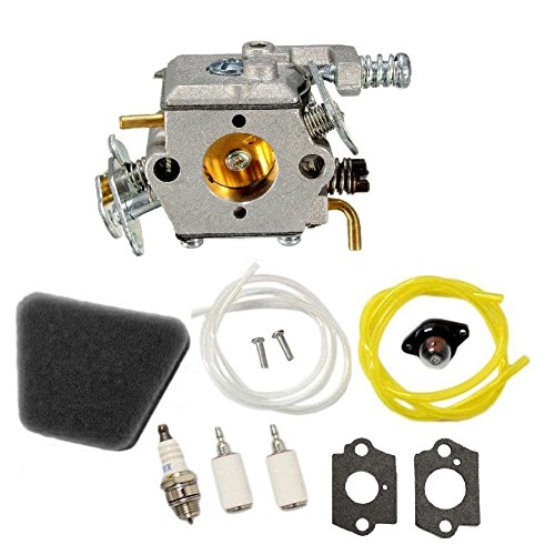 (Janrui C1U-W8 C1U-W14 Carburetor Carb kit for Poulan 1950 2050 2150 2250 2375 2550 Craftsman Chainsaw Replace WALBRO WT-89 WT-324 WT-391 WT-600 WT-624 WT-625 WT-891 Carb 545081885 530069703)