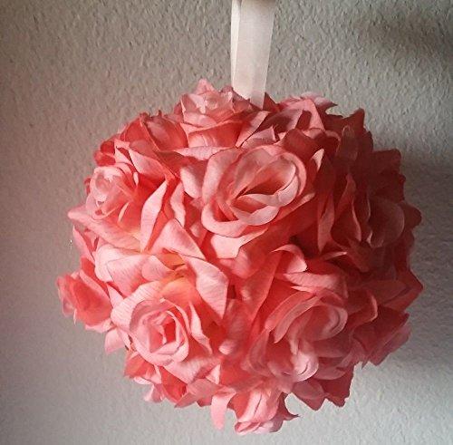 Coral Reef Silk Rose Kissing Ball - Wedding Decoration -