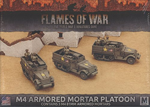 Flames of War: Mid War: United States: M4 Armored Mortar Platoon from Flames of War
