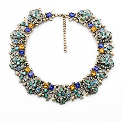 Meiysh Popular Jewelry Vintage Grand Choker Rhinestones Fashion Necklace