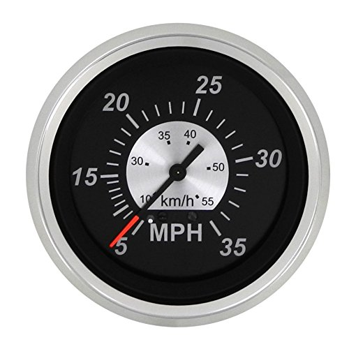 35 Mph Speedometer (Sierra International 67283Ph Sterling 0 to 35 Mph Dial Range Speedometer Head, 3
