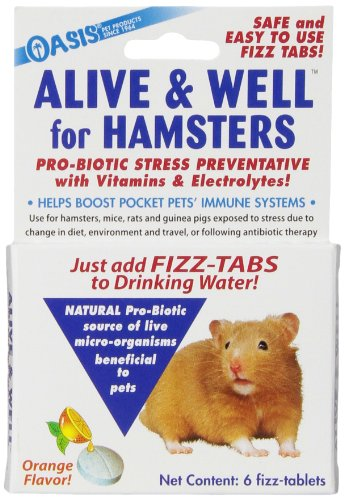 OASIS   #80063  Alive and Well, Stress Preventative and Pro-Biotic Tablets for Pocket Pets