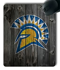San Jose State Spartans Logo on Wood Rectangle Mouse Pad by eeMuse