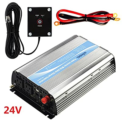 GIANDEL Power Inverter 24V DC TO 120V AC With 20A Solar Charge Controller