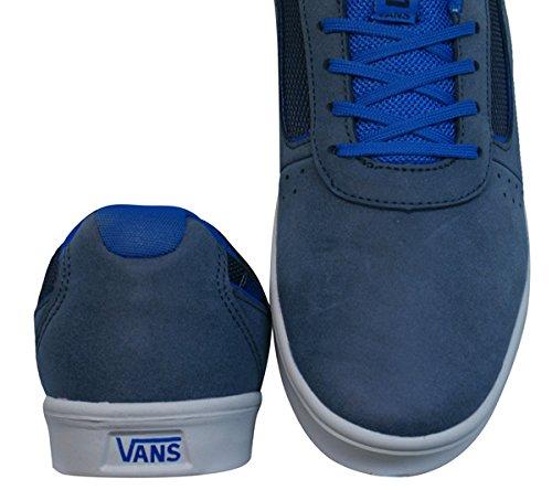 Vans Siffran Unisex Läder Mocka Sneakers / Skor - Marinblå