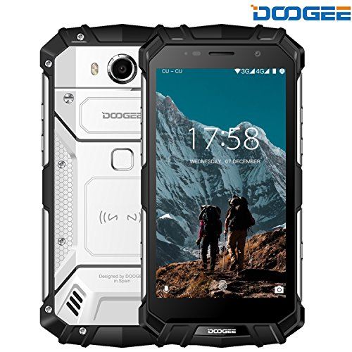 Rugged Smartphone Unlocked, DOOGEE S60 4G Cell phones Unlocked Android 7.0 - 5580mAh Battery - 5.2'' FHD Screen - IP68 Waterproof Dustproof Shockproof - 6GB RAM + 64GB ROM - 21MP Camera - rugged o