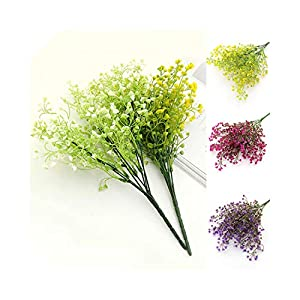 1 Bouquet DIY Artificial Baby's Breath Flower Gypsophila Fake Silicone Plant for Wedding Home Party Decorations 82