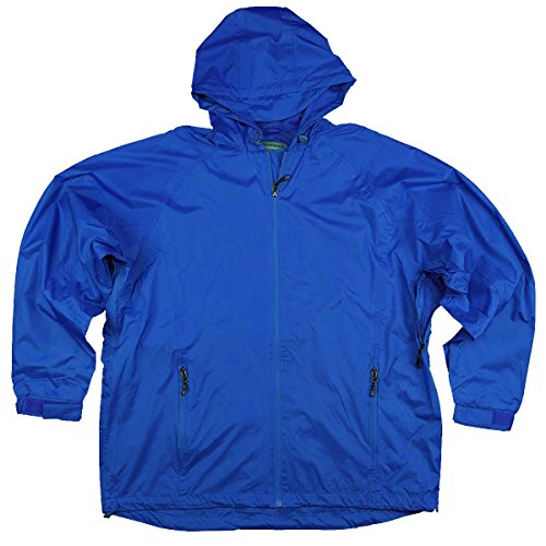 Northern Expedition Men's Waterproof Zip Up Hooded Rain Jacket (X-Large, Royal)