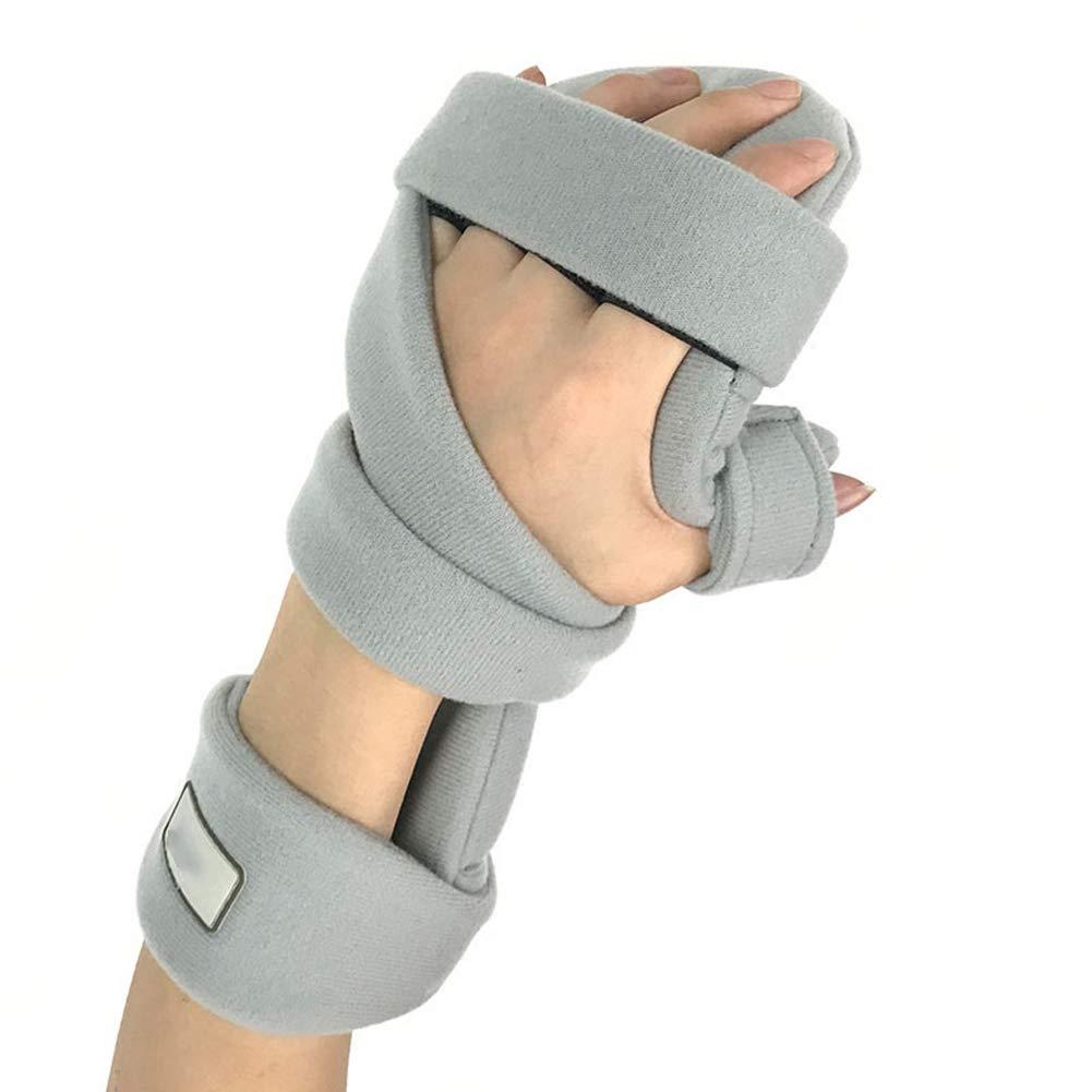Xgxyklo Hand Splint Wrist Thumb Immobilizer Support for Pain Tendinitis Sprain Fracture Arthritis Dislocation,Gray,Left