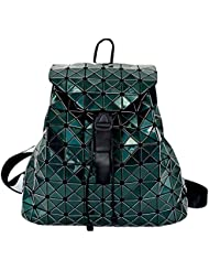 HotOne Geometric Diamond Lingge Backpack For Women Fashion Womens Purse Backpack(Green)