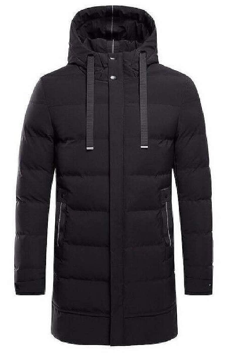 CBTLVSN Men Down Coat Thickening Jacket Winter Warm Hood Outwear Windbreaker
