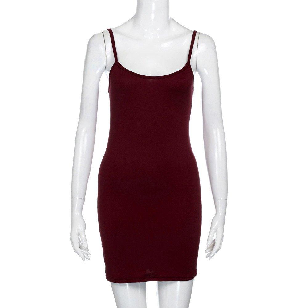 iLUGU O-Neck Sleeveless Mini Dress For Women Bodycon Package Hip Backless Pencil Dress Navy Dress by iLUGU (Image #5)