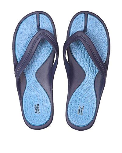 Aqua-Speed - Sandalias para mujer azul/azul oscuro