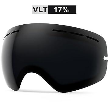 c867b6ba6d3 ZIONOR Lagopus X Ski Snowboard Snow Goggles OTG Design for Men Women with  Spherical Detachable Lens