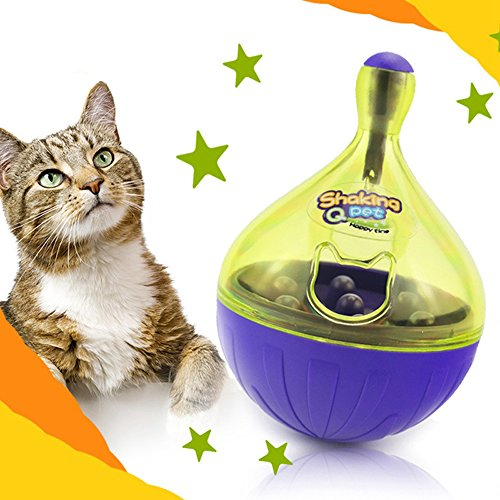 Fold Pp Wall (Rumfo Dog Cat Tumbler Leakage Toy Smarter Chew Interactive IQ Treat Ball Cat Toys Ball Cat Food Dispenser Pet Wobbler Toy Fun and Tasty (Tumbler))