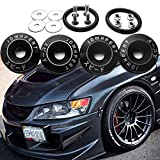 Xotic Tech 4X JDM Black Car Bumpers Trunk Fender Hatch Lids Quick Release Fasteners